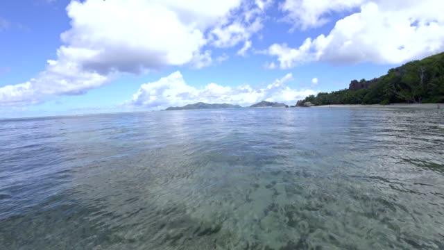 anse source à jean, la digue island, seychelles - igneous stock videos and b-roll footage