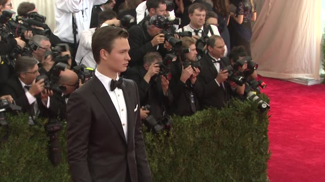 Ansel Elgort at China Through The Looking Glass Costume Institute Benefit Gala Arrivals at Metropolitan Museum of Art on May 04 2015 in New York City