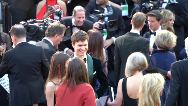 ansel elgort at dolby theatre on march 04 2018 in hollywood california - 90th annual academy awards stock videos & royalty-free footage