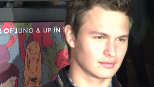 """ansel elgort at """"men, women & children"""" los angeles premiere at directors guild of america on september 30, 2014 in los angeles, california. - director's guild of america stock videos & royalty-free footage"""