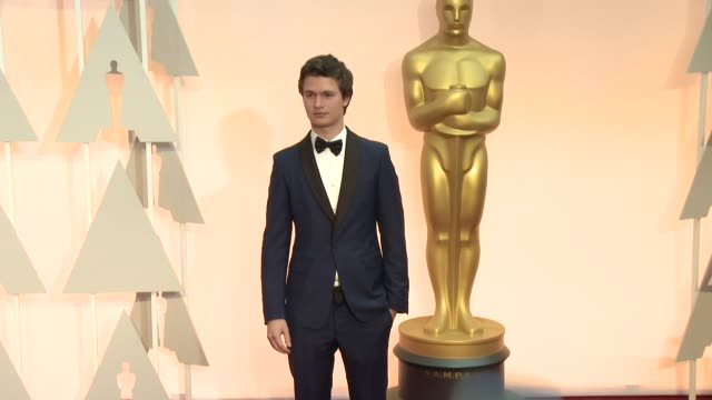 Ansel Elgort at the 87th Annual Academy Awards Arrivals at Dolby Theatre on February 22 2015 in Hollywood California