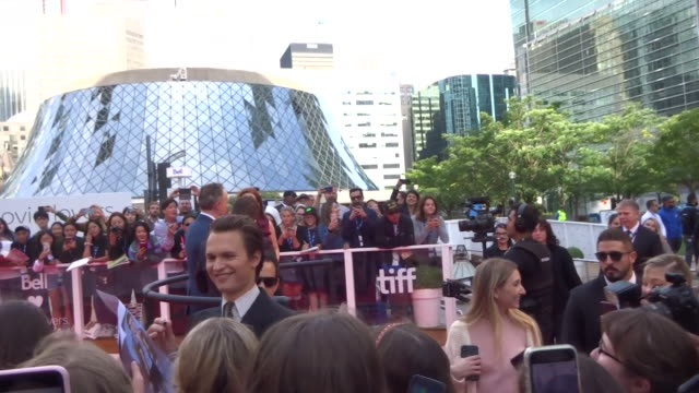 ansel elgort at the toronto international film festival in toronto in celebrity sightings in toronto, - toronto international film festival stock videos & royalty-free footage