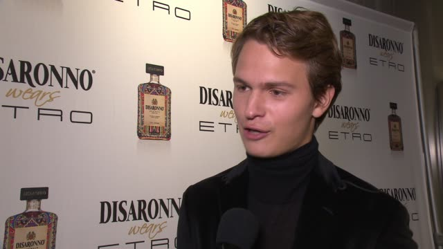 INTERVIEW Ansel Elgort on the collaboration and his friend being arrested for protesting at Disaronno Wears ETRO Launch Event at ETRO Soho Boutique...