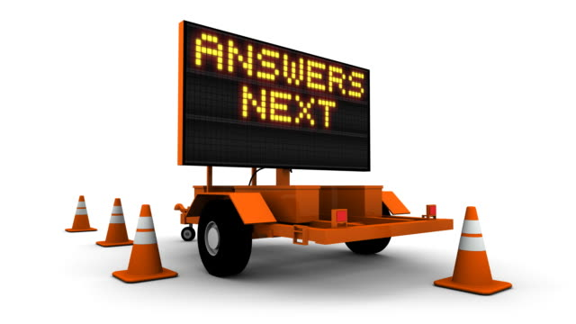 Answers Next Exit - Construction Sign Message