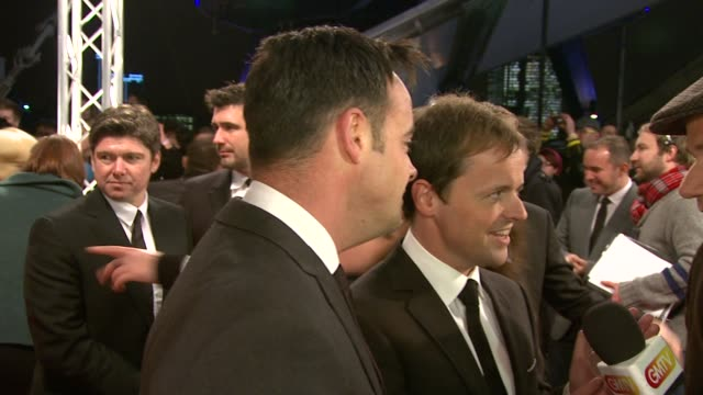 ant mcpartlin and declan donnelly at the national tv awards 2010 at london england - 2010 video stock e b–roll