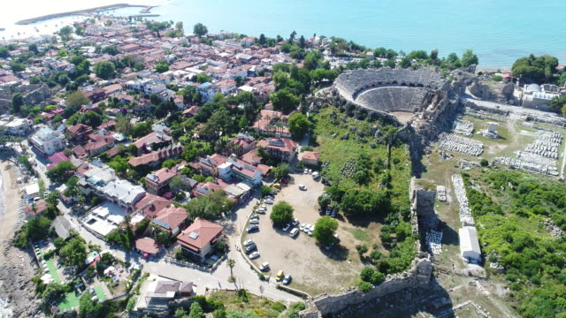 antalya side antique city - naxos greek islands stock videos & royalty-free footage