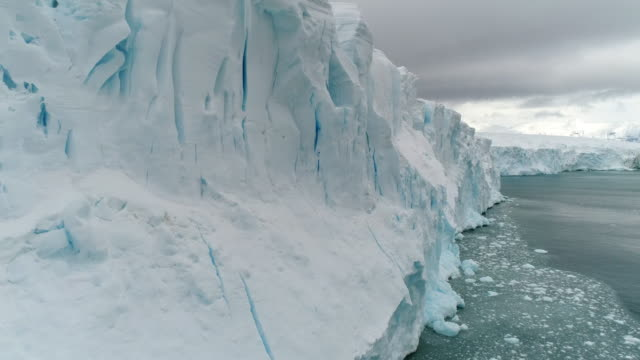 antarctic glacier calving face - antarktis stock-videos und b-roll-filmmaterial