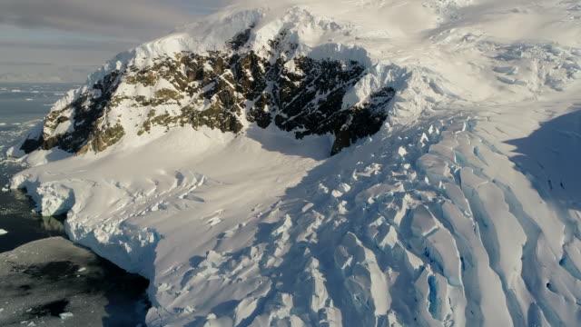 antarctic glacier landscape - crevasse stock videos & royalty-free footage