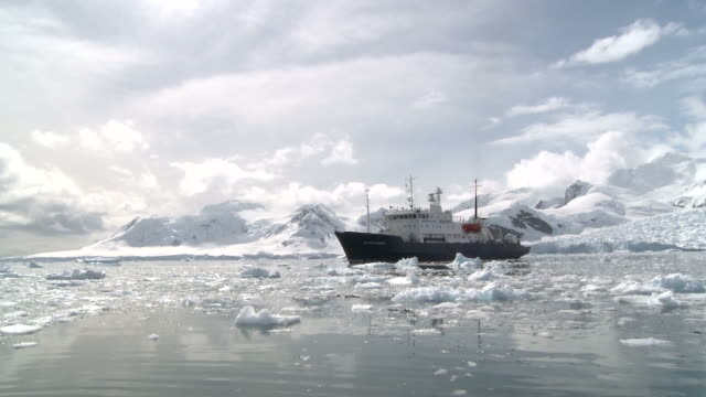 antarctic icebreaker. paradise bay - hull stock videos & royalty-free footage