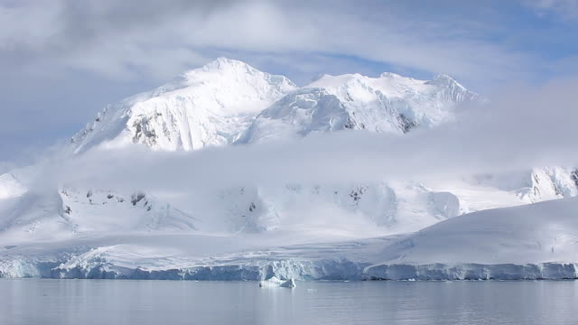 Antarctic Mountains amongst Clouds