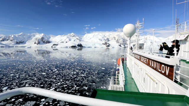 antarctic transport ship and coast - cruise antarctica stock videos & royalty-free footage