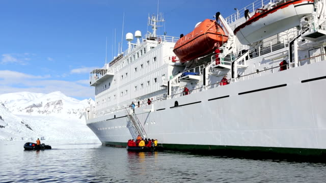 Antarctic transport ship