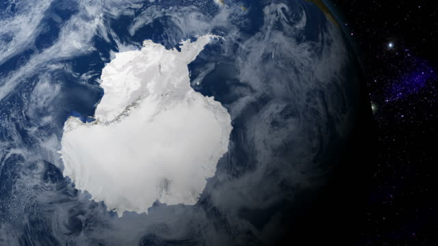 antarctica from space - south pole stock videos & royalty-free footage