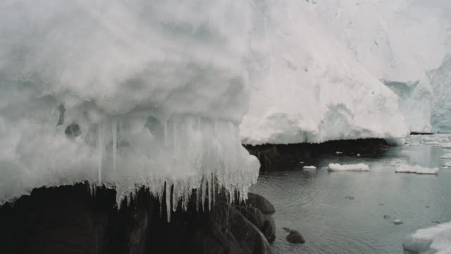 antarctica, glaciers, melting ice - icicle stock videos and b-roll footage