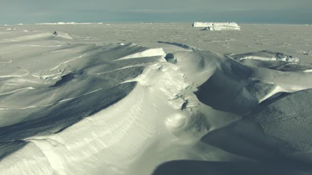 antarctica: ice landscape - antarctica aerial stock videos & royalty-free footage