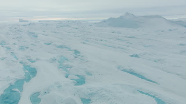 antarctica: ice landscape with rivers - south pole stock videos and b-roll footage