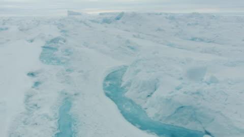 antarctica: ice landscape with rivers - glacier stock videos & royalty-free footage