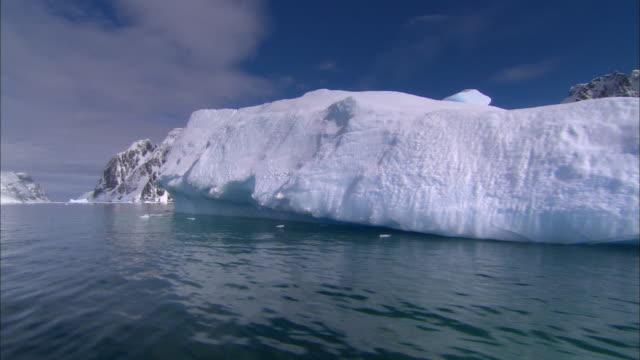 POV, Antarctica, Lemaire Channel, Boat passing iceberg