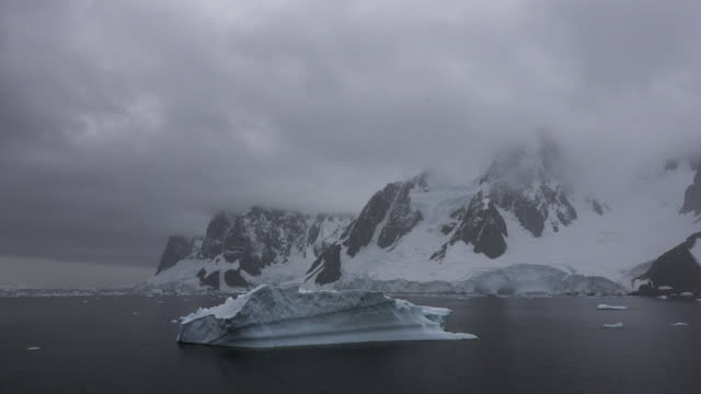 Antarctica Lemaire Channel floating iceberg.mov