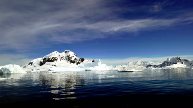 antarctica: paradise harbour - ice floe stock videos & royalty-free footage
