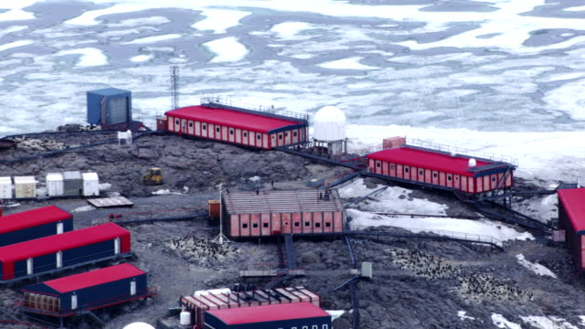 antarctica: research station of dumont d'urville - antarctica research stock videos & royalty-free footage