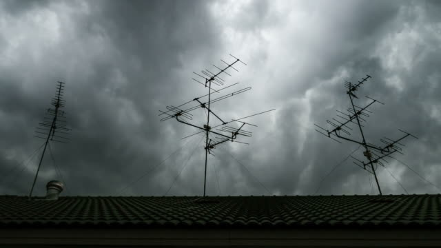 tv antenna on the roof - television aerial stock videos and b-roll footage
