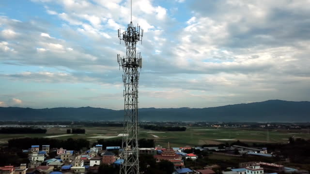 antennas communication support tower - repeater tower stock videos and b-roll footage