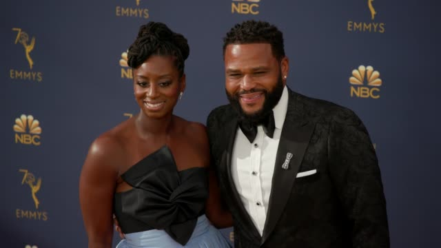 anthony anderson and alvina stewart at the 70th emmy awards - arrivals at microsoft theater on september 17, 2018 in los angeles, california. - anthony anderson stock videos & royalty-free footage