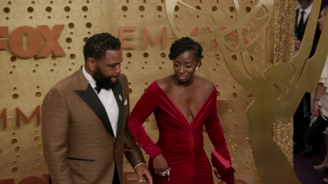 anthony anderson and alvina stewart at the 71st emmy awards - arrivals at microsoft theater on september 22, 2019 in los angeles, california. - anthony anderson stock videos & royalty-free footage