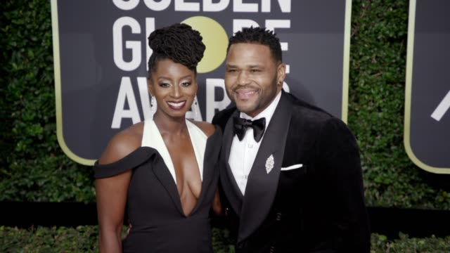 Anthony Anderson and Alvina Stewart at the 75th Annual Golden Globe Awards at The Beverly Hilton Hotel on January 07 2018 in Beverly Hills California