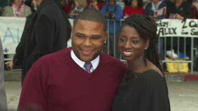 anthony anderson and guest at the 'the backup plan' premiere at westwood ca - neckwear stock videos and b-roll footage