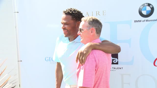 anthony anderson and michael wilson at the 10th annual george lopez foundation celebrity golf classic at lakeside golf club on may 1, 2017 in toluca... - toluca lake stock videos & royalty-free footage