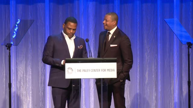 anthony anderson and terrence howard at the paley center for media's tribute to african-american achievements in television presented by jpmorgan... - anthony anderson stock videos & royalty-free footage