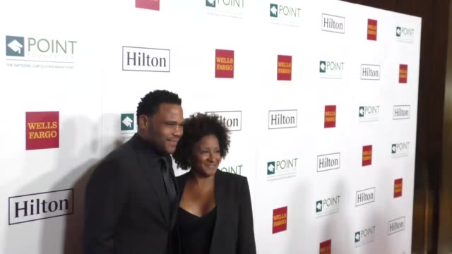 anthony anderson and wanda sykes at point honors los angeles 2017 benefiting point foundation on october 07 2017 in beverly hills california - wanda sykes stock videos and b-roll footage