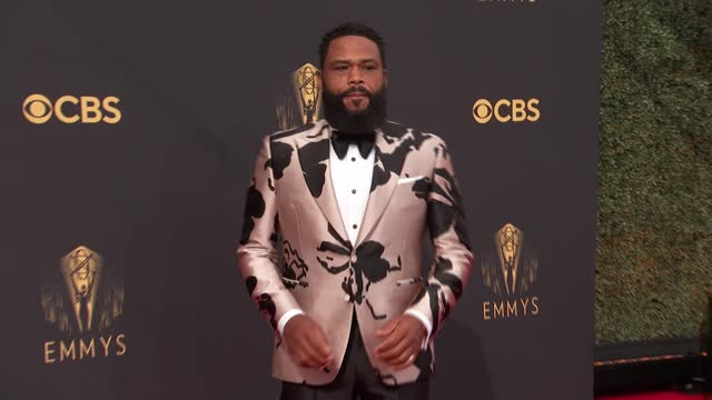 anthony anderson arrives to the 73rd annual primetime emmy awards at l.a. live on september 19, 2021 in los angeles, california. - emmy awards stock videos & royalty-free footage