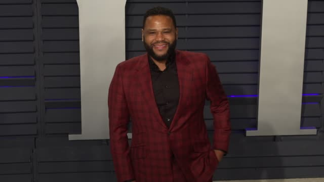 anthony anderson at 2019 vanity fair oscar party hosted by radhika jones at wallis annenberg center for the performing arts on february 24, 2019 in... - anthony anderson stock videos & royalty-free footage