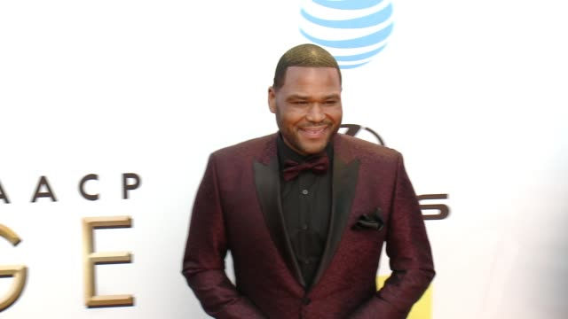 anthony anderson at 47th annual naacp image awards at pasadena civic auditorium on february 05 2016 in pasadena california - pasadena civic auditorium stock videos and b-roll footage