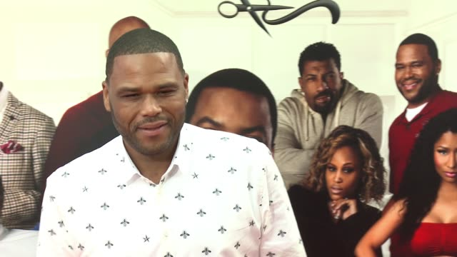 stockvideo's en b-roll-footage met anthony anderson at barbershop the next cut los angeles premiere at tcl chinese theatre on april 06 2016 in hollywood california - tcl chinese theatre