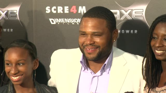 anthony anderson at the axe shower presents the world premiere of 'scream 4' at hollywood ca. - anthony anderson stock videos & royalty-free footage