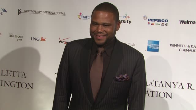 anthony anderson at the blue gala to benefit spelman college at new york ny. - anthony anderson stock videos & royalty-free footage
