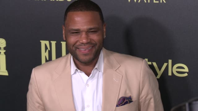 vídeos de stock e filmes b-roll de anthony anderson at the hollywood foreign press association and instyle celebrate the 2016 golden globe award season at ysabel on november 17 2015 in... - prémio globo de ouro