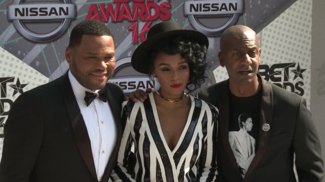 Anthony Anderson Janelle Monae Stephen Hill at 2016 BET Awards in Los Angeles CA