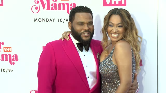 anthony anderson la la anthony at vh1 dear mama a love letter to mom premieres monday may 6th at 10pm et/pt on vh1 in los angeles ca - vh1 stock videos & royalty-free footage