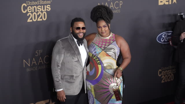 anthony anderson lizzo at the 51st naacp images awards on february 22 2020 in pasadena california - naacp stock videos & royalty-free footage
