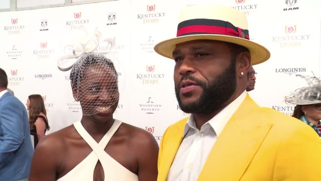 anthony anderson on attending the 144th kentucky derby at churchill downs on may 5, 2018 in louisville, kentucky. - anthony anderson stock videos & royalty-free footage