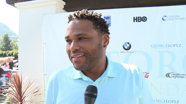 anthony anderson on being a part of today, on being involved in the organization, on who he loves golfing with at the 10th annual george lopez... - anthony anderson stock videos & royalty-free footage
