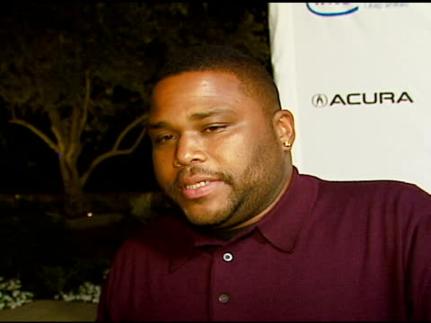 anthony anderson on being friends with stevie, on stevie getting the award at the songs of hope iv at esquire house 360 at esquire house in beverly... - anthony anderson stock videos & royalty-free footage