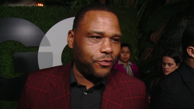 anthony anderson on what brings him out, why he loves gq and what makes a gentleman at gq 20th anniversary men of the year party in los angeles, ca... - anthony anderson stock videos & royalty-free footage