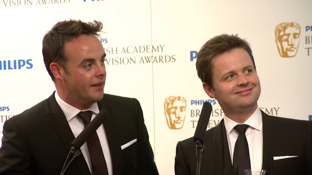 anthony 'ant' mcpartlin and declan 'dec' donnelly on winning the bafta - 2010 video stock e b–roll