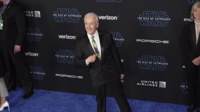"""anthony daniels at the premiere of disney's """"star wars: the rise of skywalker"""" on december 16, 2019 in hollywood, california. - star wars stock videos & royalty-free footage"""